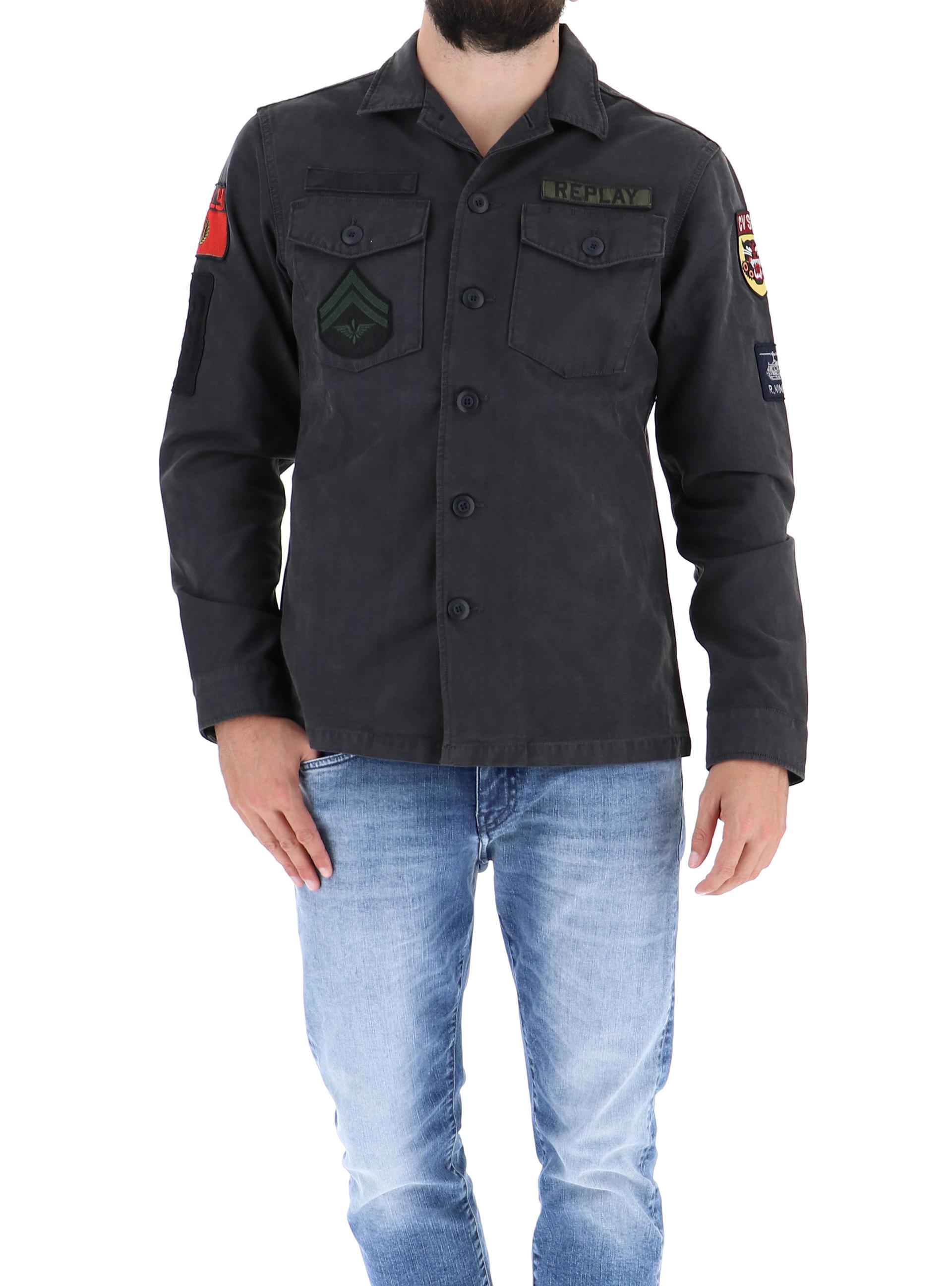 1003744b842d Replay giacche grigio scuro e giubbini m8825c uomo Sorelle 20 rxTPqrH